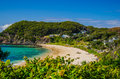 Beach in nsw australia idyllic at the edge of the myall lakes national park Stock Images