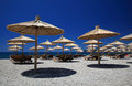 Beach parasols Royalty Free Stock Image