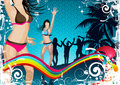 Beach Party Background Stock Images