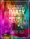 Beach Party Flyer for your latin music event Royalty Free Stock Photo