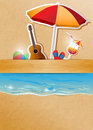 Beach party vector concept illustration eps gradient mesh and transparency used Stock Photography