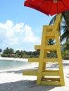 Beach Patrol Chair at beach Royalty Free Stock Photo