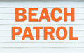 Beach patrol sign Royalty Free Stock Photo