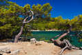 Beach at Phaselis in Antalya, Turkey Royalty Free Stock Images