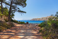 Beach at phaselis in antalya turkey travel background Royalty Free Stock Photography