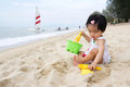 Beach playtime Royalty Free Stock Photo