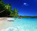 Beach at praslin island seychelles Royalty Free Stock Photography