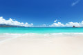Beach at praslin island seychelles anse lazio Stock Photo
