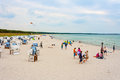 Beach in prerow germany june the sea spa town at the darss peninsula fischland darss zingst is a famous tourist destination Royalty Free Stock Image