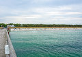 Beach in prerow pier view of the Royalty Free Stock Photos