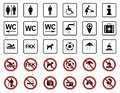 Beach - Prohibition & Warning Signs - Iconset