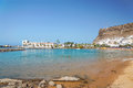 Beach in puerto de mogan on island of gran canaria Royalty Free Stock Photo