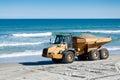 Beach Renourishment with Dump Truck