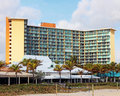 Beach resort hotel wyndham is located on deerfield and offering elegant accommodations in an oceanfront location along the south Royalty Free Stock Image