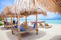 Beach rest pavillion in Gili islands, Trawangan Royalty Free Stock Photo