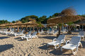 Beach restaurant on the black sea burgas bulgaria Royalty Free Stock Photos