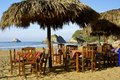 Beach restaurant mexico cozy on the mexican pacific coast oaxaca Stock Photo