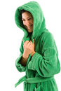 Beach Robe-hood Royalty Free Stock Images