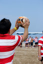 Beach Rugby Royalty Free Stock Images