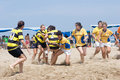 Beach Rugby Stock Images