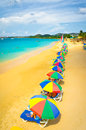 Beach in Saint Lucia, Caribbean Islands Royalty Free Stock Image