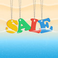 Beach and sale seasonal summer Stock Photography
