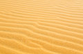 Beach sand background or texture wavy yellow Stock Image