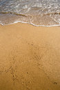 Beach sand background in winter Royalty Free Stock Photos