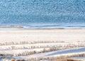 Beach sand dune nature background Royalty Free Stock Photo