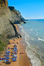 Beach scene from Corfu island Stock Photos