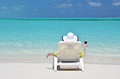 Beach scene exema bahamas island Royalty Free Stock Images