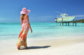 Beach scene exuma islands bahamas Stock Photo
