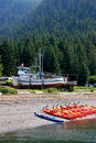 Beach scene, Hoonah Stock Photo