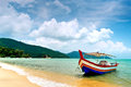 Beach Scene in Penang, Malaysia Royalty Free Stock Photo