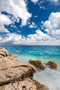 Beach scenery in Croatia, Istria, Europe Royalty Free Stock Photo