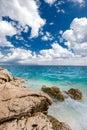 Beach scenery in Croatia, Istria, Europe Royalty Free Stock Photo