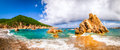 Beach scenic panoramic view in Costa Paradiso, Sardinia Royalty Free Stock Photo