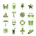 Beach, sea and holiday icons Royalty Free Stock Photography