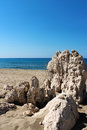 Beach sea stone patara in antalya turkey Stock Photography