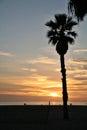 Beach with setting sun