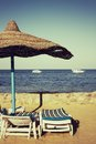 Beach in Sharm al-Sheikh Stock Photo