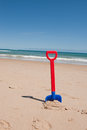 Beach Shovel Stock Image