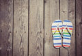 Beach slippers Royalty Free Stock Photo