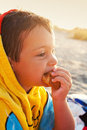 Beach snack Stock Images