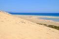 Beach Sotavento, Fuerteventura, Spain - 15.02.2017.