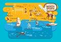Beach Sports Infographics ,Sum...
