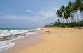 Beach on sri lanka coast wild Stock Image