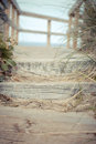 Beach steps climbing the on a peaceful afternoon at the in new buffalo mi Royalty Free Stock Photography