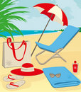 Beach stuff Royalty Free Stock Images