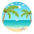 Beach.Summer achtergrond Stock Afbeeldingen